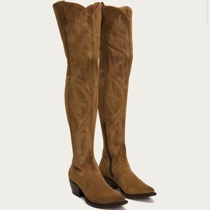 frye// NEW shane thigh high embroidered boot